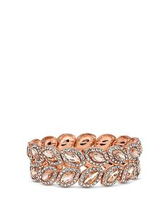 mood-rose-gold-plated-crystal-leaf-stretch-bracelet