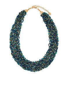 accessorize-gemma-beaded-bib-necklace-green