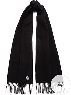 ps-paul-smith-mensnbspzebra-logo-knitted-scarf--nbspblack