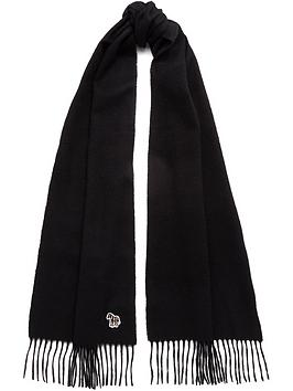 ps-paul-smith-mensnbspzebra-logo-knitted-scarf--nbspblack
