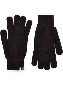 ps-paul-smith-menrsquos-knitted-gloves-blacknbsp