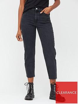 v-by-very-34-high-waist-straight-leg-jeans--nbspblack-wash