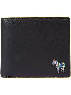 ps-paul-smith-menrsquos-zebra-logo-leather-billfold-wallet-black