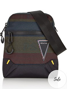 ps-paul-smith-menrsquos-woven-stripe-cross-body-bag--nbspblack