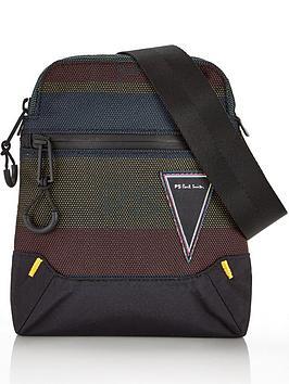 ps-paul-smith-menrsquos-woven-stripe-cross-body-bag--nbspblack