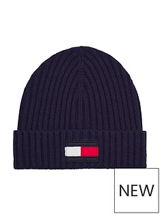 tommy-hilfiger-kids-flag-knitted-beanie-navy