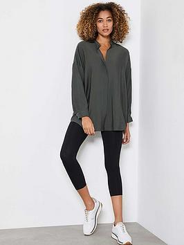 Mint Velvet Oversized Longline Shirt - Khaki