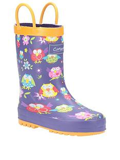cotswold-girls-owl-wellington-boots