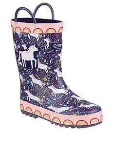 cotswold-girls-unicorn-wellington-boots