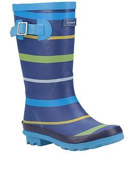 cotswold-boys-stripe-wellington-boots