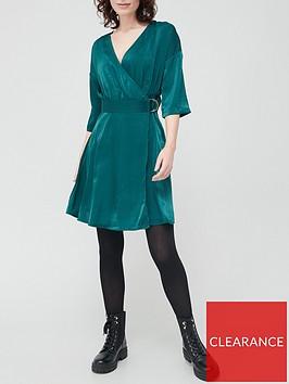 v-by-very-satin-kimono-sleeve-dress-teal