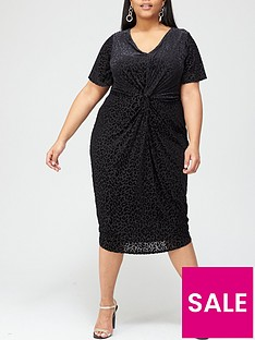 v-by-very-curve-leopard-burnout-angel-sleeve-dress-black