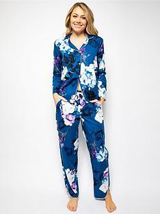 cyberjammies-elizanbspfloral-long-sleeve-trouser-set-blue