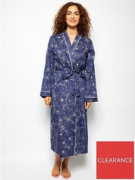 cyberjammies-stella-star-print-robe-navy