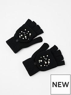 accessorize-pearl-capped-glove-black