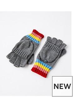 accessorize-rainbow-stripe-glove-grey
