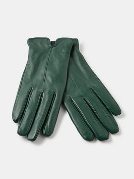 accessorize-basic-leather-gloves-green
