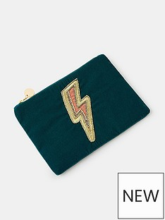 accessorize-lightening-bolt-embroidered-pouch-teal
