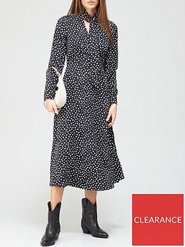 v-by-very-tie-neck-midi-dress-polka-dotnbsp