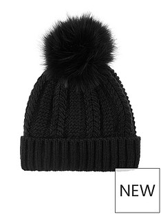 accessorize-luxe-pom-beanie-black