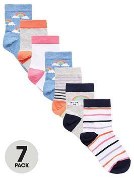 v-by-very-girls-7-pack-rainbow-socks-multi