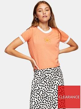 topshop-hand-stitch-ringer-t-shirt-orange
