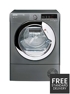 hoover-dynamic-next-dxoc10tcer-10kg-load-aquavision-condenser-tumble-dryer-with-one-touch-graphitechrome