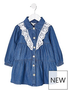 river-island-mini-girls-denim-lace-smock-dressnbsp--blue