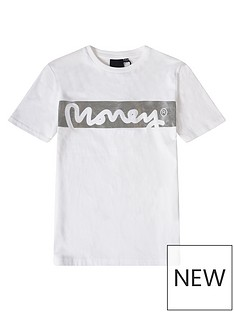 money-boys-block-signature-short-sleeve-t-shirt-white