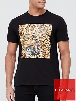 just-cavalli-leopard-print-logo-t-shirt-black