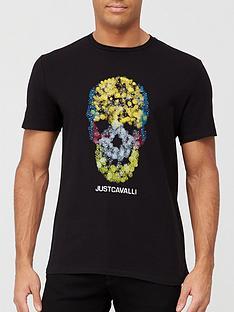 just-cavalli-textured-skull-t-shirt-black