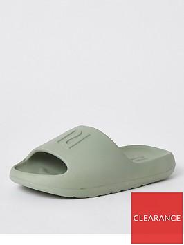 river-island-branded-slides-green