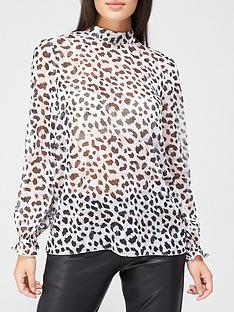 v-by-very-high-neck-lurex-printed-blouse