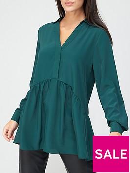 v-by-very-collar-button-through-tunic-green