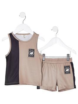 river-island-mini-boys-vest-and-short-set--nbspstone