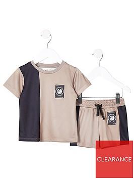 river-island-mini-mini-boys-active-mesh-t-shirt-and-short-set--nbspstone