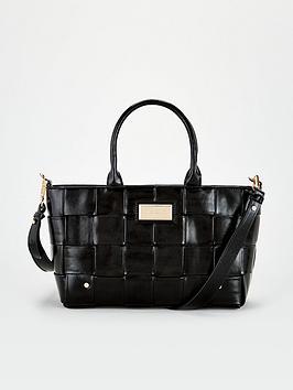 river-island-woven-small-tote-bag-black