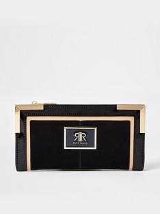 river-island-colour-block-metal-corner-purse-black