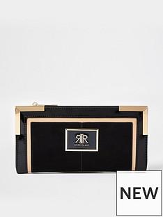 river-island-colour-block-metal-corner-purse-black