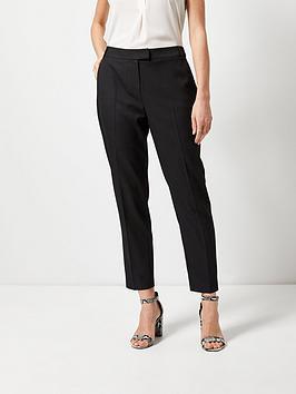 dorothy perkins regular pique trousers - black