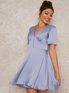 chi-chi-london-harlla-fit-and-flare-mini-dress-blue