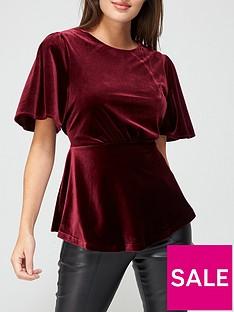 v-by-very-velvet-angel-sleeve-blouse