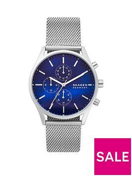 skagen-skagen-holst-blue-chronograph-dial-silver-mesh-strap-watch
