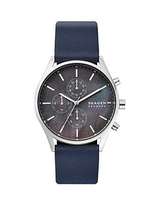 skagen-holst-chronograph-grey-dial-navy-strap-watch