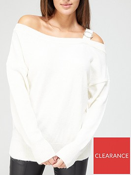 v-by-very-cold-shoulder-diamante-detail-jumper-white