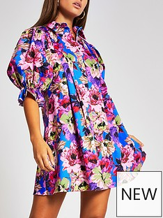 river-island-pleat-sleeve-chain-print-shirt-dress-floral