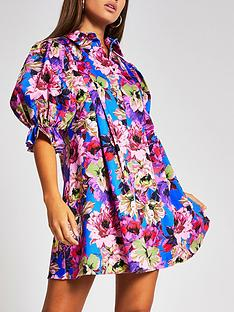 river-island-pleat-sleeve-printed-smock-dress-floral