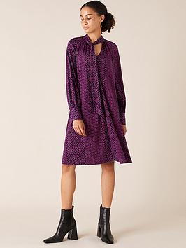 monsoon-monsoon-geo-printed-short-sustainable-dress-pinkprint