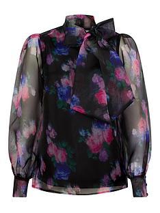 monsoon-rylee-floral-organza-blouse-black