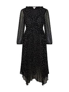 monsoon-spot-print-pleated-dress